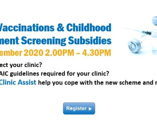Webinar: Enhanced Vaccinations & Childhood Development Screening Subsidies 26 September 2020 2.00PM – 4.30PM